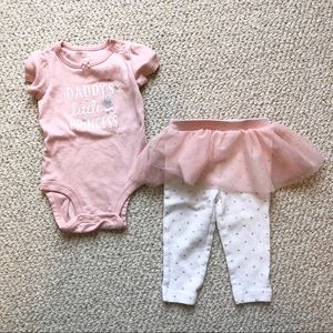 Baby Girl Matching Outfit Daddy's Little Princess